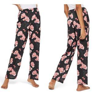 Topshop Rose Print Pajama Pants